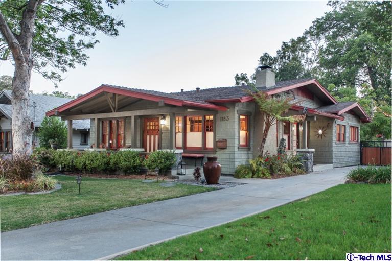Pasadena real estate pasadena homes for sale for Pasadena craftsman homes